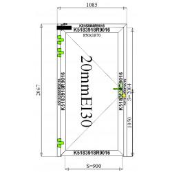 Drzwi Aluminiowe PPOŻ 1085 x 2067