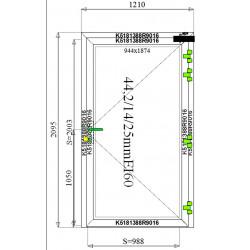 Drzwi Aluminiowe PPOŻ 1210 x 2095