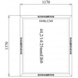 Okno Stałe Aluminiowe PPOŻ 1170 x 1370