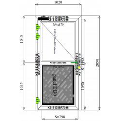 Drzwi Aluminiowe PPOŻ 1020 x 2090