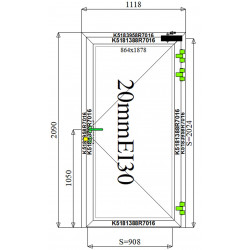 Drzwi Aluminiowe PPOŻ 1118 x 2090