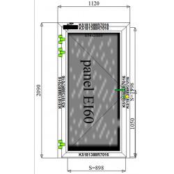 Drzwi Aluminiowe PPOŻ 1120 x 2090