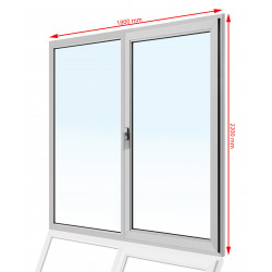 Okno PCV 1800 x 2200
