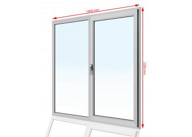 Drzwi balkonowe PCV 1800 x 2200
