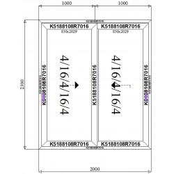 Drzwi Aluminiowe HST 2000 x 2300