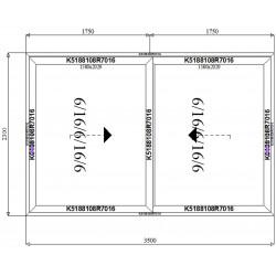 Drzwi Aluminiowe HST 3500 x 2300