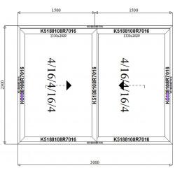 Drzwi Aluminiowe HST 3000 x 2300