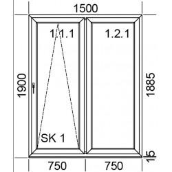 Drzwi przesuwne PSK 1500 mm.