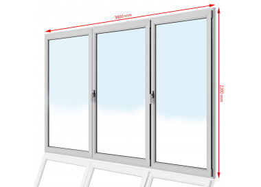 Drzwi balkonowe PCV 3000 x 2200