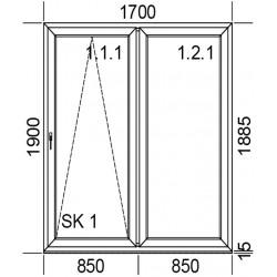 Drzwi przesuwne PSK 1700 mm.