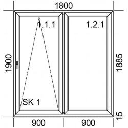 Drzwi przesuwne PSK 1800 mm.