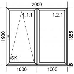 Drzwi przesuwne PSK 2000 mm.