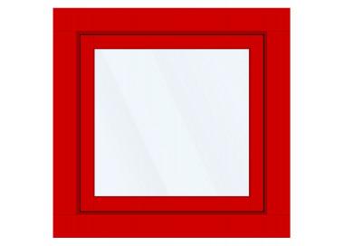 Okno PCV z nakładką Aluskin 1000 x 1000
