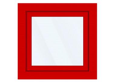 Okno PCV z nakładką Aluskin 980 x 990