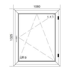 Okno PCV z nakładką Aluskin 1080 x 1325