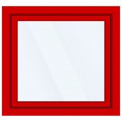 Okno PCV z nakładką Aluskin 1220 x 1200