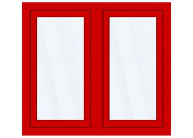 Okno PCV z nakładką Aluskin 1500 x 1500