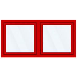 Okno PCV z nakładką Aluskin 2300 x 1250