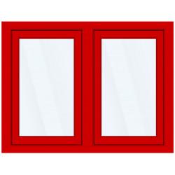 Okno PCV z nakładką Aluskin 1600 x 1255