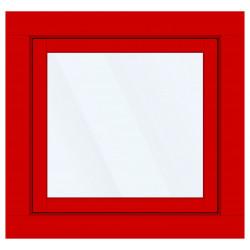Okno PCV z nakładką Aluskin 970 x 955