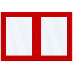 Okno PCV z nakładką Aluskin 1835 x 1325