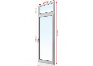 Drzwi balkonowe PCV 800 x 2500