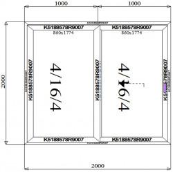 Drzwi Aluminiowe HST 2000 x 2000