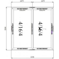 Drzwi Aluminiowe HST 2150 x 2200