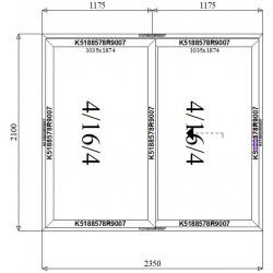 Drzwi Aluminiowe HST 2350 x 2100