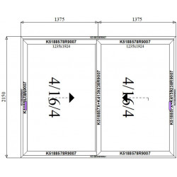 Drzwi Aluminiowe HST 2750 x 2150