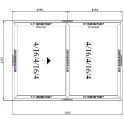 Drzwi Aluminiowe HST 3100 x 2250