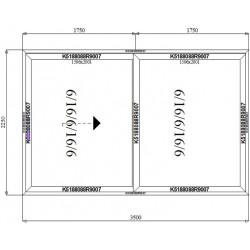 Drzwi Aluminiowe HST 3500 x 2250
